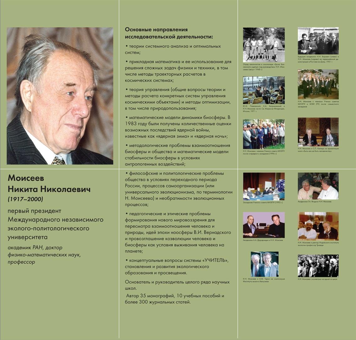 Никита Моисеев и современный мир